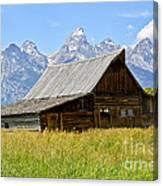 Moulton Barn On Mormon Row Canvas Print