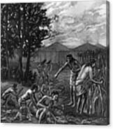 Mound Builders: Farming Canvas Print