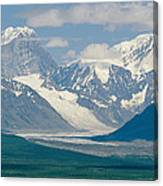 Mount Deborah And Hess Mountain Canvas Print