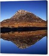 Mount Errigal, Lough Nacung, Dunlewy Canvas Print