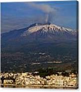 Mount Etna Canvas Print
