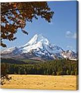 Mount Hood And Autumn Colours In Hood Canvas Print