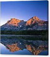 Mount Kidd Reflected In Wedge Pond Canvas Print