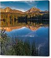 Mount Lassen Reflecting 2 Canvas Print