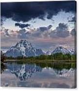 Mount Moran Under Black Cloud Canvas Print
