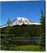 Mount Rainier And Reflection Lake Canvas Print