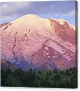 Mount Rainier At Sunrise Mount Rainier Canvas Print