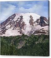 Mount Rainier With Coniferous Forest Canvas Print