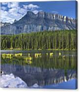 Mount Rundle And Boreal Forest  Canvas Print