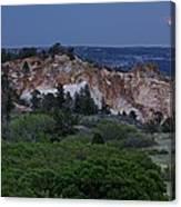 Mount Saint Francis And The Super Moon Canvas Print