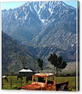 1941 Willys Week End Project Under Mount San Jacinto  Canvas Print