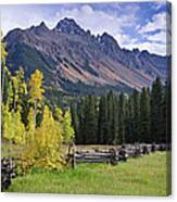Mount Sneffels And Fence Canvas Print