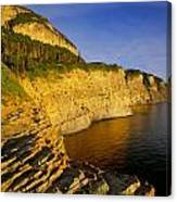 Mount St Alban Cliffs At Sunset Canvas Print