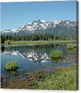 Mount Tallac Sky Projections Canvas Print