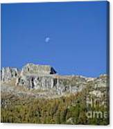 Mountain And Moon Canvas Print