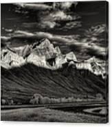 Mountain Canmore Canvas Print