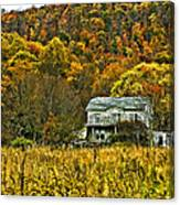 Mountain Home Painted Canvas Print