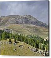 Mountain In St Moritz Canvas Print