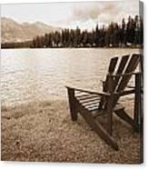 Mountain Lake View Canvas Print