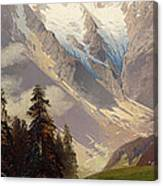 Mountain Landscape With The Grossglockner Canvas Print
