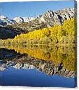 Mountain Mirrored By Lake Canvas Print