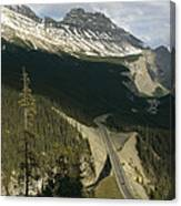 Mountain Peaks Along The Icefields Canvas Print