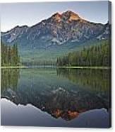 Mountain Reflection, Pyramid Mountain Canvas Print
