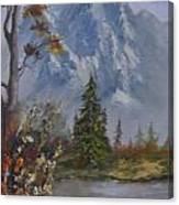 Mountain Scene Canvas Print