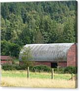Mountain Side Farm Canvas Print
