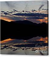 Mountain Sunset Reflection Canvas Print