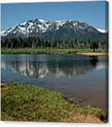 Mountain Tallac Dive In Canvas Print