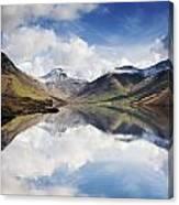 Mountains And Lake, Lake District Canvas Print