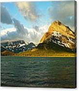 Mountains At Many Glacier Canvas Print