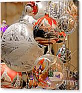 Mouth-blown Hand Painted Christmas Ornaments Canvas Print