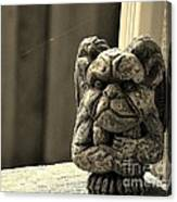 Mr G For Grouchy Gargoyle Esq Canvas Print