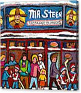 Mr Steer Restaurant Montreal Canvas Print