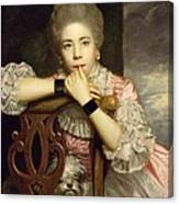 Mrs Abington As Miss Prue In Congreve's 'love For Love'  Canvas Print