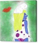 Ms. Smurf Canvas Print