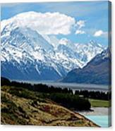 Mt Cook Across Lake Pukaki Canvas Print