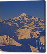 Mt. Mckinley Sunset From Above Canvas Print