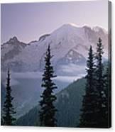 Mt Rainier As Seen At Sunrise Mt Canvas Print