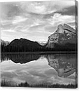 Mt. Rundel Reflection Black And White Canvas Print