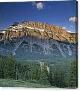 Mt Rundle And The Bow River Canvas Print