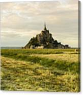 Mt Saint Michel At Sunset Canvas Print