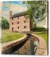 Mt. Vernon Gristmill Art Canvas Print