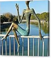 Mtkvari River Figure Canvas Print