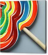 Multicoloured Lollipop, Close-up Canvas Print