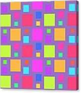 Multicoloured Squares Canvas Print