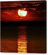 Multiline Sunset Canvas Print