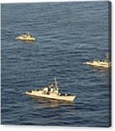 Multinational Navy Ships Move Canvas Print
